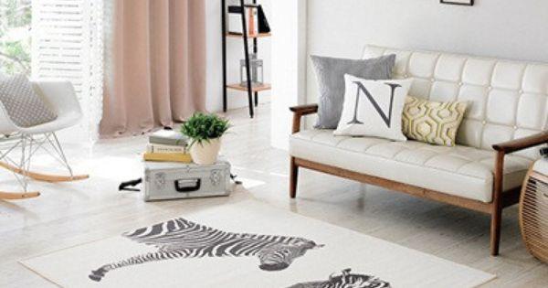 Coone Medium Zebra On Cream Carpet Cream Carpet Rugs On Carpet