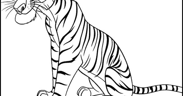 shere khan jungle book color page disney coloring pages color plate coloring sheet printable