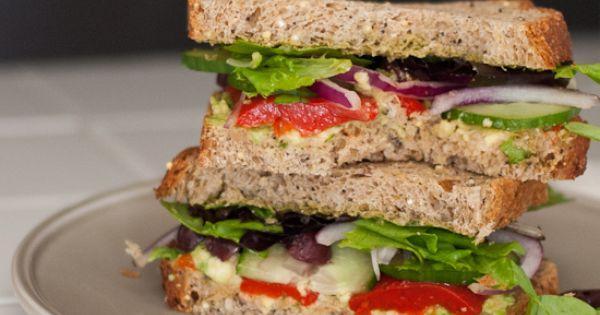 Simple Greek Avocado Sandwich | Recipe | Avocado sandwich ...