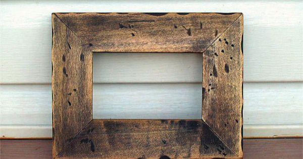Vente cadre rustique cadre mural cadre photo 4 x 6 for Cadre photo mural bois