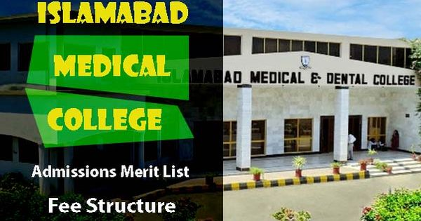 Islamabad Medical And Dental College Admissions And Fee Structure College Admission College Dental