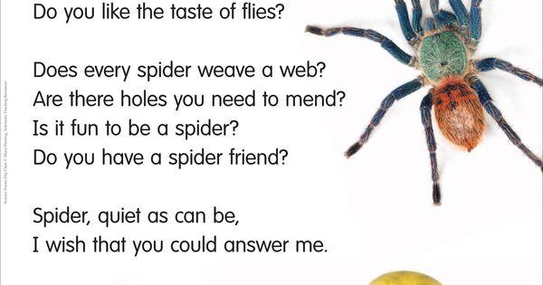 Spider Poem. | Anansi Stories | Pinterest | Poem and Literacy