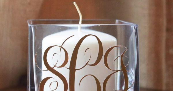 Crafty Texas Girls: DIY Monogram Candle Holder