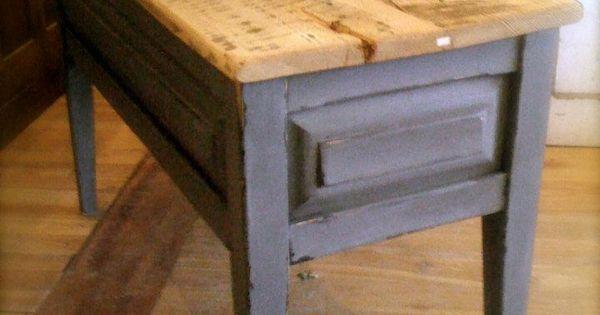 reproduction table basse plateau bois de grange assemblage rainure fausses languettes. Black Bedroom Furniture Sets. Home Design Ideas