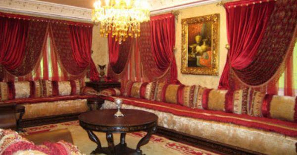 Salons et rideaux marocain tr s moderne s9 2013 endroits visiter pinter - Salon marocain tres chic ...
