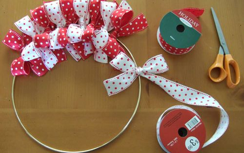 Christmas Craft / Ribbon Bow Wreath