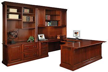 California Made Solid Wood Maple Wood U Shape Executive Desk