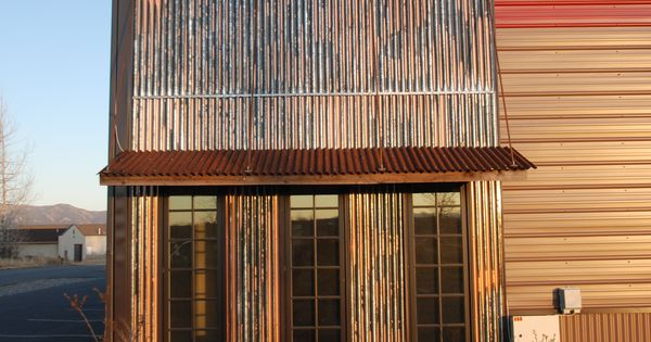 Corrugated Metal As Accent With Awning Metal Accents Pinterest