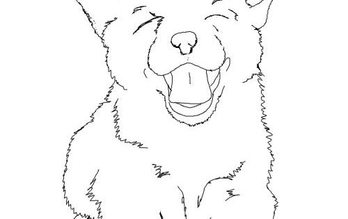 Corgi Puppy Line Art My Coloring Pages Pinterest