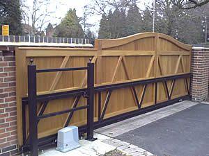 Electric Gate Automation Heritage Ldk Sliding Electric Gates Sliding Gate Wooden Gates Driveway Wooden Gates