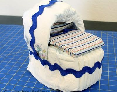 Diaper Bassinet Tutorial by cuteasafox: Darling baby shower gift! BabyShower