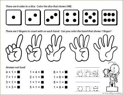 Number Study One Matematika Dlya Detej
