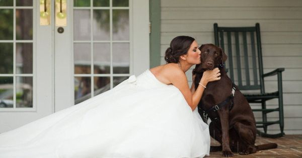 the bride with her dog :) Nova will be in my wedding