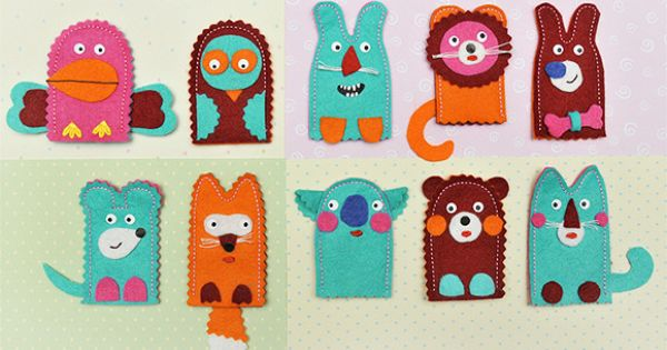 DIY Felt Finger Puppet Kit for Kids by HANDMADE CHARLOTTE