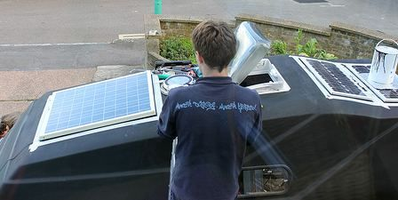 Fitting Solar Panels On The Roof Of A Camper Van