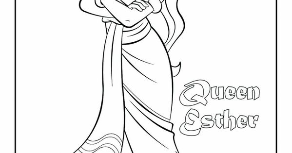 Princess Esther Coloring Pages : Queen esther she looks like a disney princess here