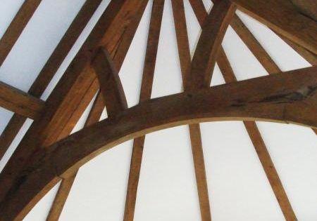 An Arch Brace Truss In Oak Trusses Pinterest Braces