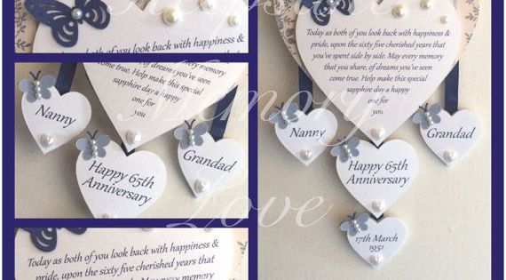 65th Wedding Anniversary Gift Ideas: 65th Sapphire Anniversary Gift Personalised Wooden