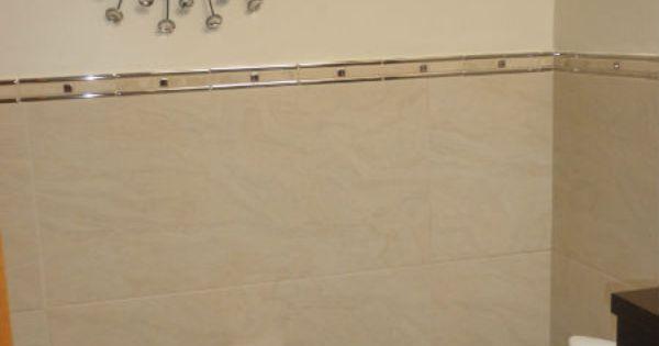 Alicatado a media altura azulejos para ba os pinterest - Alicatado para banos ...