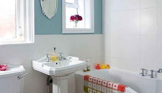 Enten-Ei blau und weiß Badezimmer Wohnideen Badezimmer Living Ideas ...