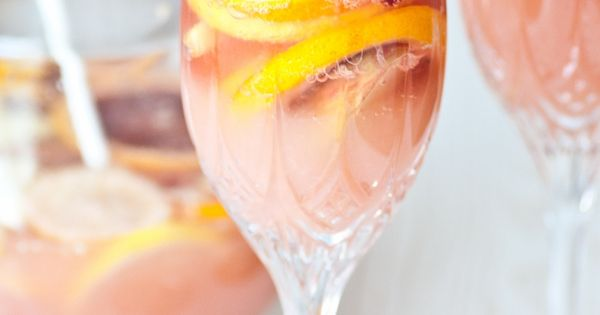 Citrusy Champagne sangria -- sounds like a nice summer drink.