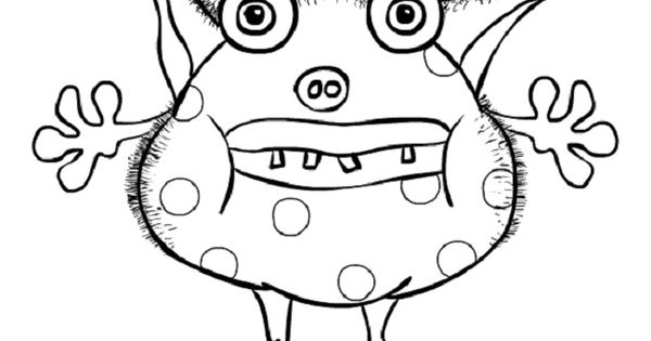 Kids Free Cute Monster Coloring Pages To Print