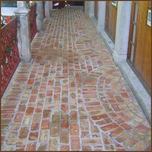 brick pavers reclaimed brick patio