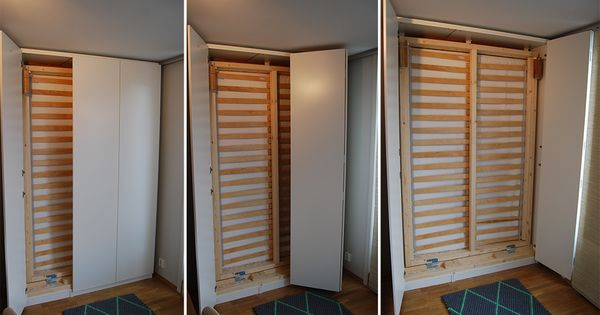 lit escamotable ikea diy avec une armoire pax diy murphy bed offices and ikea pax wardrobe. Black Bedroom Furniture Sets. Home Design Ideas