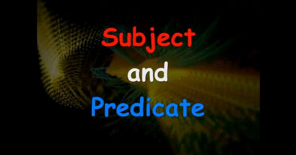 Subject predicate video