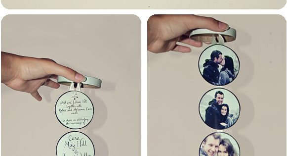 Cute idea for wedding invitations and even others DIY