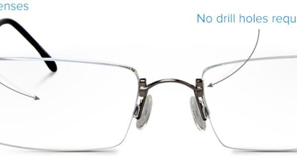 Rimless Glasses Without Screws : HOYA / Avantek- Ultra light and thin, distortion free ...