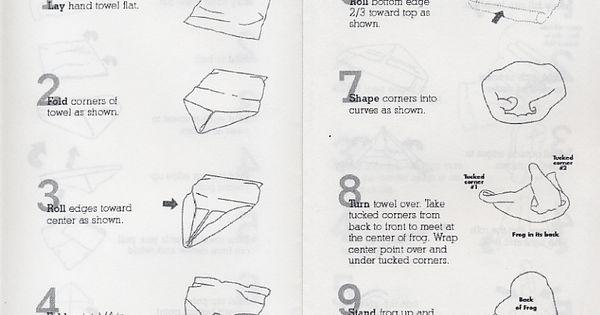 origami towel folding instructions