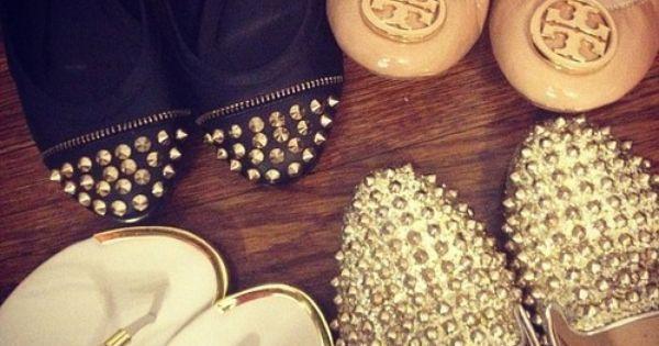 #flats shoes studs