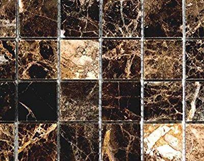 Mosaik Fliese Marmor Naturstein Impala Braun Poliert Fur Boden