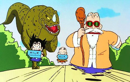 Goku Krillin And Roshi Anime Dragon Ball Dragon Ball Dragon Ball Z