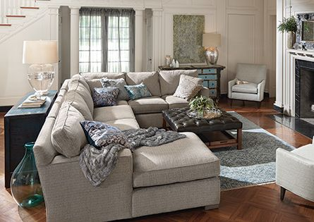 Dune 139 Quot Three Piece Upholstered Right Sectional In