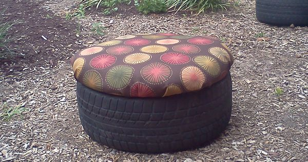 Tractor Seats Classrooms : Recycled tire seat for outdoor classroom treated plywood