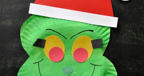 Paper Plate Grinch Craft Grinch Grinch Stole Christmas