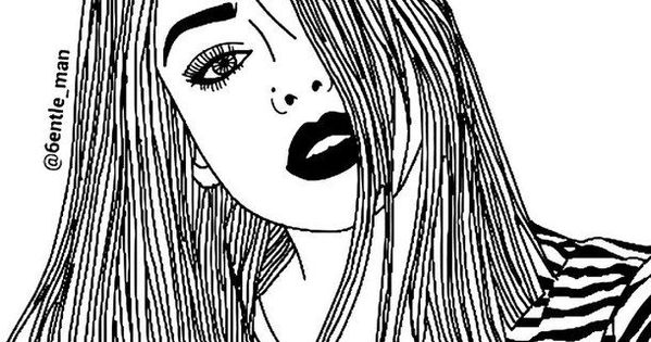 Hipster Tumblr Girl Coloring Pages Arty Art Art