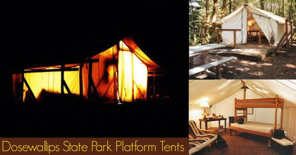 Platform tents at dosewallips state park olympic for Cabin rentals olympic national forest