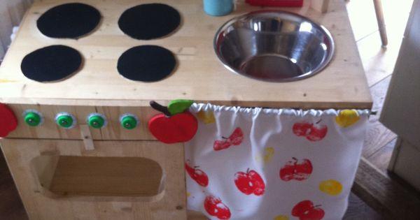 schnelle kinderk che selbst bauen diy ideen pinterest toy kitchen. Black Bedroom Furniture Sets. Home Design Ideas