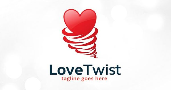 Love Twist Logo Template Design – great for develop, agency, multimedia, studio, dating service