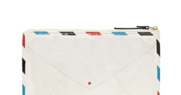 airmail pouch, Kate Spade.