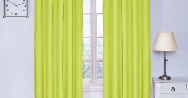 Lime Green Blackout Curtains For My Hot Upstairs In The