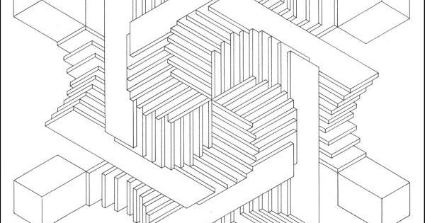 Pattern optical illusion coloring pages coloring pages for Illusion coloring pages
