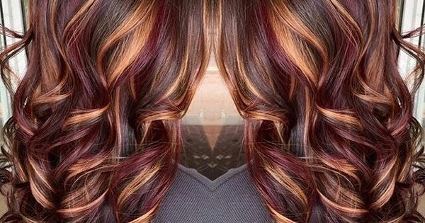 plum amp copper highlights chocolate brown base � pinteres�