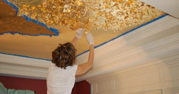 Protected Blog Log In Gold Leaf Diy Gold Ceiling Gold Diy