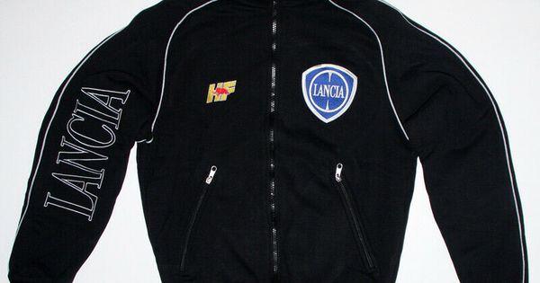Lancia Zip Hoodie EMBROIDERED Auto Logo Sweatshirt Mens Delta Integrale Racing