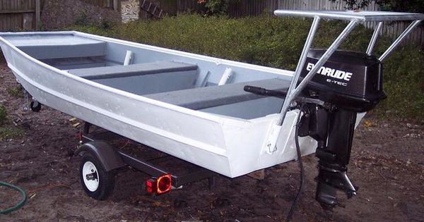 Quick detachable poling platform on aluminum boat | Boat ...