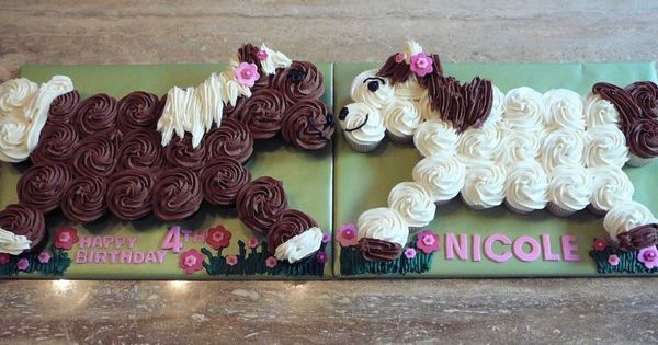 Cute birthday party idea! Pull apart cupcake horses! SO CUTE!